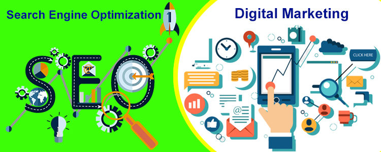 difference between seo and digital marketing